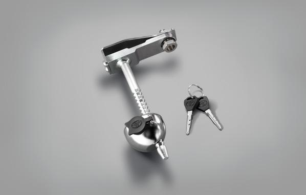 อุปกรณ์ล็อกยางอะไหล่แบบกุญแจ