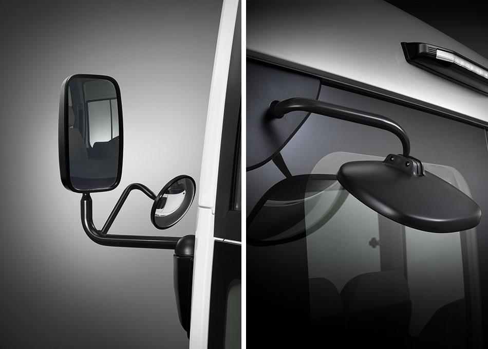 กระจกมองมุมด้านหน้าและมองหลัง ลดจุดอับสายตาสำหรับผู้ขับขี่ ทั้งขณะเดินและจอดรถ