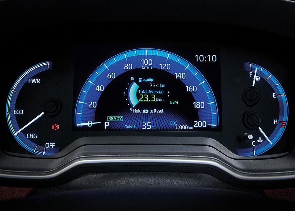 จอแสดงผลข้อมูลการขับขี่ MID (Multi Information Display) ขนาด 7 นิ้ว