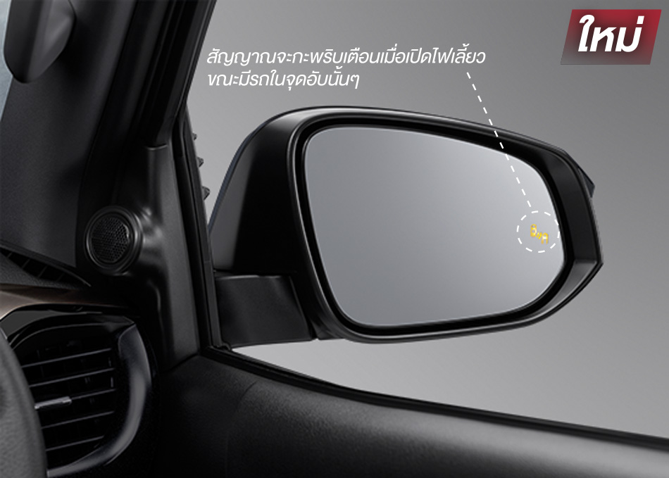 BSM (Blind Spot Monitor) ระบบช่วยเตือนมุมอับสายตา
