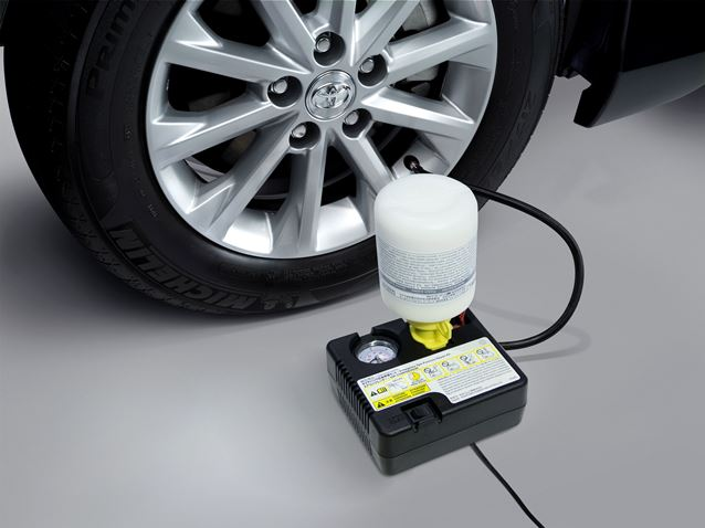 ชุดซ่อมยางฉุกเฉินพร้อมที่ปั๊มลม(สำหรับยางขนาดเล็ก) / Tire Sealant (S-Size tire)