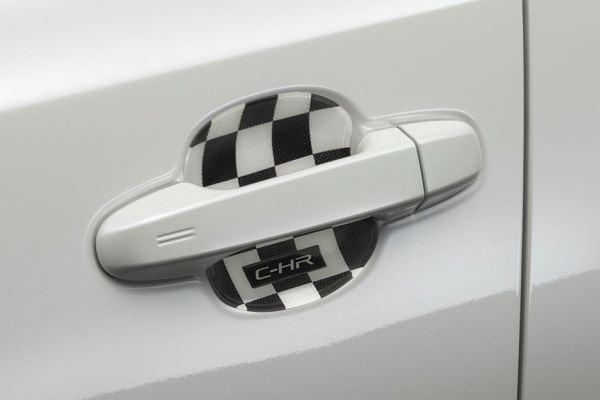 กรอบรองที่จับประตู (ลายหมากรุก) / Door Handle Sticker (Checker)