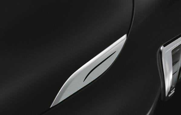 คิ้วตกแต่งฝากระโปรงโครเมียม / Hood Garnish (Chrome)