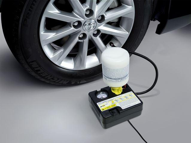ชุดอุปกรณ์และน้ำยาปะยางอุดรอยรั่ว (สำหรับยางขนาดใหญ่) / Tire Sealant (L-Size Tire)