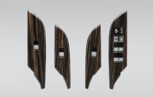 ชุดตกแต่งแผงสวิตซ์กระจกลายไม้ / Wooden Armrest